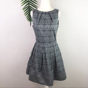Closet London Pleat Front Fit-&-Flare Dress